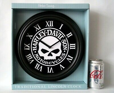 Harley Davidson Willie-G Skull Themed  Wall Clock / Wall Art. Silent Movement