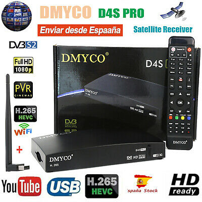 DVB-S2 Satellite TV Receiver+Wifi Antenna Full HD FTA H.265 PVR Digital Decoder