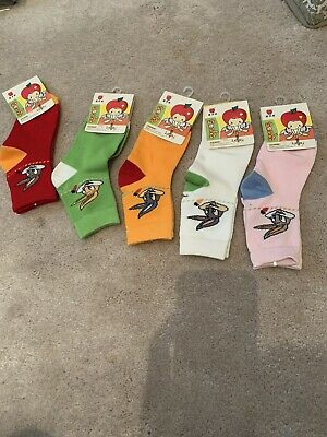 BNWT! Socks Bundle For Girls! Size 4-6! Medium. Mixed Colours. Five Pairs!