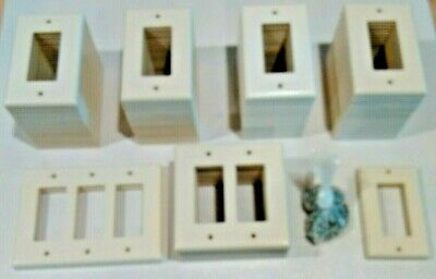 Decora Switch & Outlet Wall Plates - 107 Plates - Assorted - Ivory - Excellent