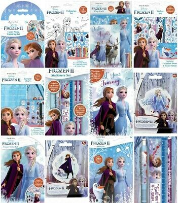 Disney Frozen 2 Character Kids Activity Colouring Books Crayons Pencil Stickers