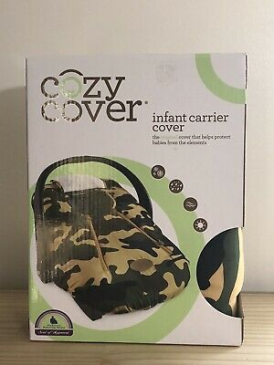Cozy Cover Infant Carrier Cover Green Camo WEATHERPROOF BRAND NEW IN BOX