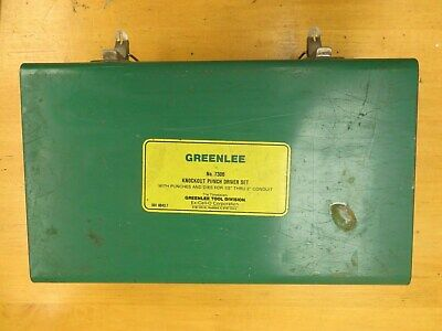 Greenlee 7306 Hydraulic Knock Out Punch Set 767 Pump, 746 Ram plus Extras