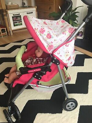 Mamas & Papas Baby Doll Toy Foldable Buggy Stroller Pram & Doll