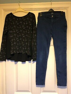 Brand New With Tags Gap Top & Gap High Stretch Jeggings / Skinnyjeans Age  12