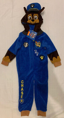Paw Patrol Chase Blue One Piece Sleep Suit Dress Up Age 3 - 4 Years