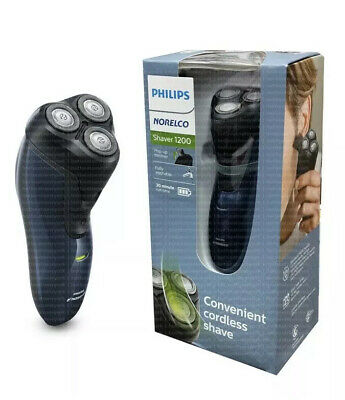 Philips Norelco Shaver 1200 Rotary w/ Trimmer Cordless Washable 100-240V