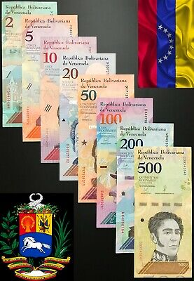 Venezuela - Full Set of 8 notes (PCS), 2 - 500 BOLIVARES (Soberano) 2018, UNC