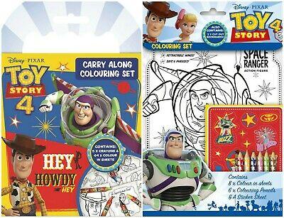 Disney Toy Story 4 Colouring Set Childrens Activity Stickers Party Gift