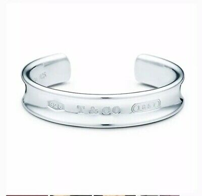 Authentic Tiffany &Co Sterling Silver 925 1837 Cuff Bracelet Excellent Condition