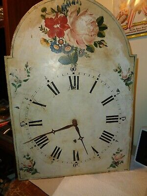 Antique-Wooden Plate-Grandfather Clock Movement-Ca.1840-To Restore-#K22