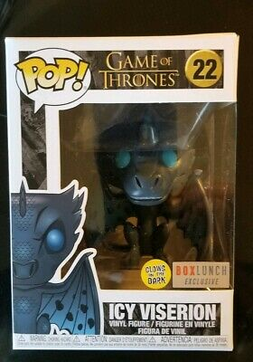 Funko Pop! Game Of Thrones Gitd Icy Viserion #22 Boxlunch Exclusive