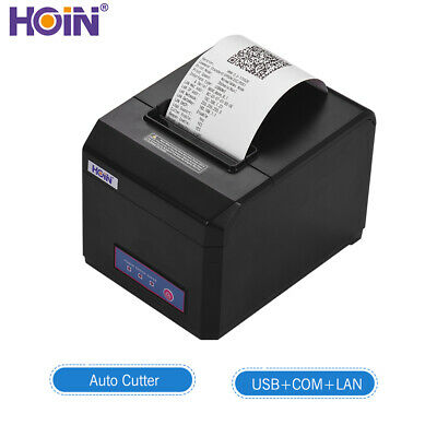 HOIN 80mm USB + COM + LAN Thermal Line Printer with Auto Cutter 300mm/S Printer