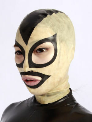 100%Latex Rubber Mask Masque Handsome Cool Hood Unique Maske Transparent XXS-XXL