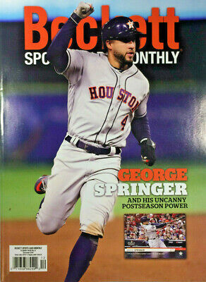 December 2019 Beckett Sports Card Monthly Price Guide Magazine George Springer