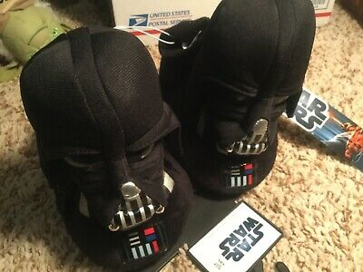 Star Wars Darth Vader Childs Slippers- Size 9/10- New with Tags