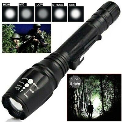 990000Lumens Ultra Brightest Flashlight Powerful T6 LED Police Tactical Torch US
