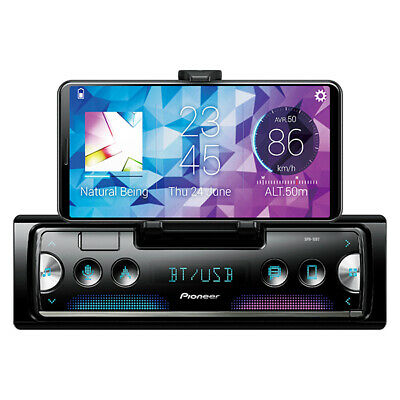 Pioneer SPH-10BT Single-DIN in-Dash Mechless Smart Sync Receiver with Bluetooth