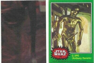 "Star Wars Series 4 C-3PO ""Golden Rod"" Iconic Error Reprint Card #207 1977 Topps"