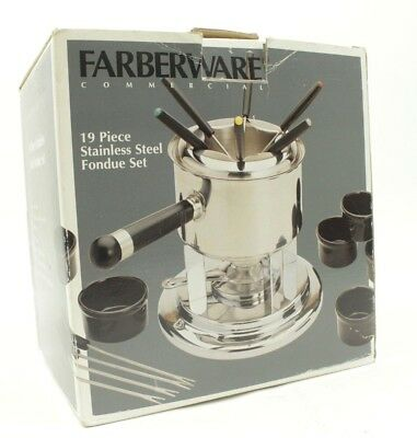 Farberware Commercial 19 Piece Stainless Steel Fondue Set Party Outdoor Fun