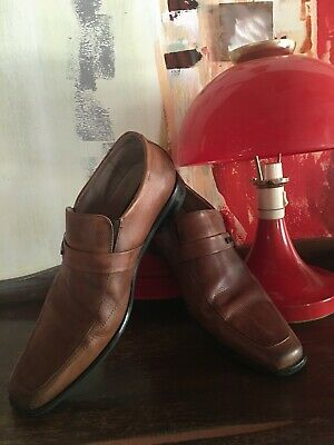LUXE TAN LEATHER MENS SLIP ON DRESS SHOES by STACEY ADAMS**USA* Sz 8