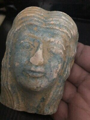 Rare Large Ancient Egyptian Queen Cleopatra Head  (1403-1365 BC)