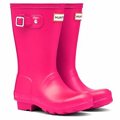 Hunter Original Wellington Boots Childs Girls Pink Wellies Gum Boots Waterproof