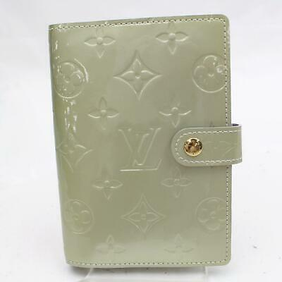 Authentic Louis Vuitton Diary Cover Agenda PM Grays Vernis 1202009