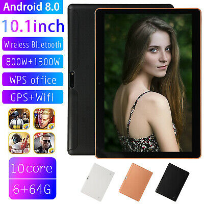 """10.1"""" Inch 6GB+64GB HD Tablet PC Android 8.1 Ten Core Wifi Bluetooth Phone Call"""
