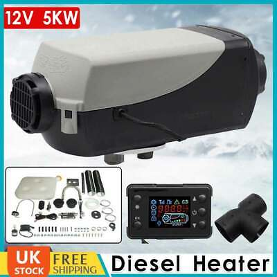 5KW 12V Diesel Air Heater Planar Switch Silencer 5000W For Car Truck Motorhome