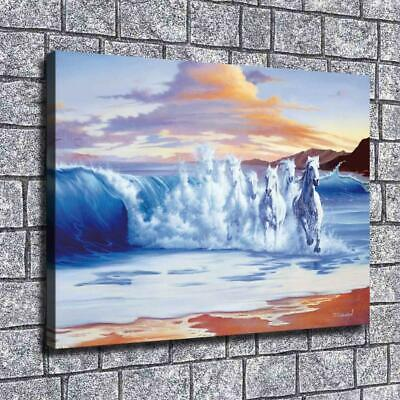 """12""""x16""""Jim Warren wave Paintings HD Print on Canvas Home Decor Wall Art Pictures"""