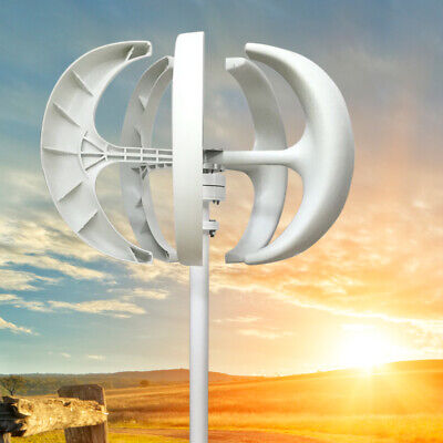 VAWT Lanterns Wind Turbine Generator Vertical Axis With Controller 12V 600W
