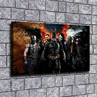 "12""x20""DC Batman Paintings HD Print on Canvas Home Decor Wall Art Pictures Poste"