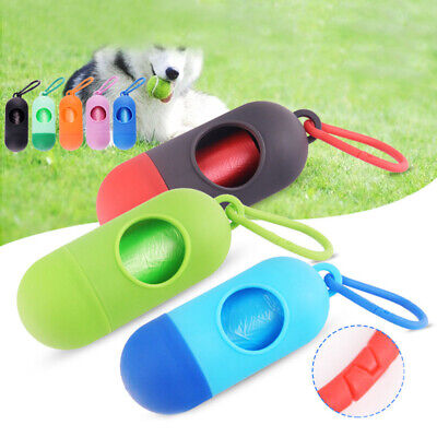 Dog Poop Waste Bag Holder Dispenser & Lead Attachement Plastic Dog poo Bags UK