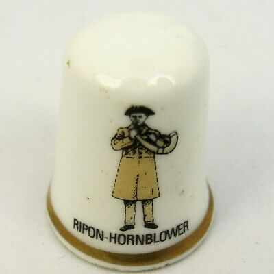 Collectable Bone China Thimble 'Ripon Hornblower' By L.n.b. Jones