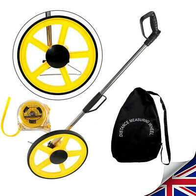 Foldable Distance Measuring Wheel w/ Stand&Bag Tape Surveyors Builders Road Land