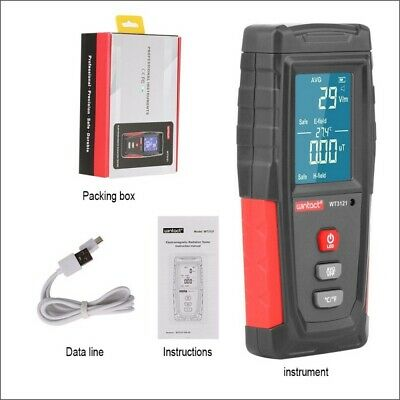 LCD Electromagnetic Radiation Detector Meter Tester in Electric+magnetic Fields