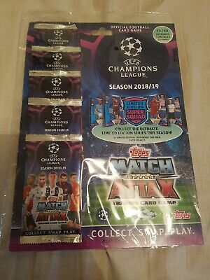 Match Attax 18/19 UEFA Champions League MULTIPACK ...NEW&SEALED