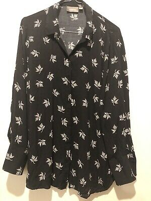 Sussan Maternity Blouse Long Sleeve Top Size 10