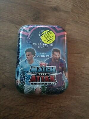 Topps Match Attax Champions league 2018-19 tins sealed tin