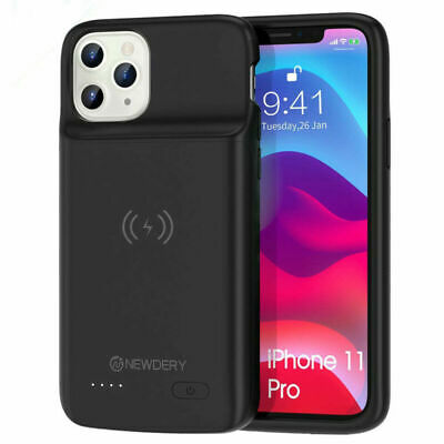 Qi Wireless 5000mAh For iPhone 11Pro Max Battery Charger Case Power Pack Cover