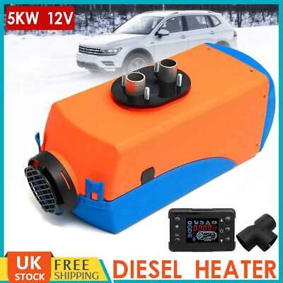 12V 5KW Air Diesel Heater Tank LCD Monitor 10L 5000W Trucks Bus Boats Car UK