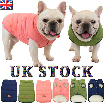 UK Dog Puppy Pet Warm Padded Coat Thick Winter Puffer Jacket Clothes Waterproof