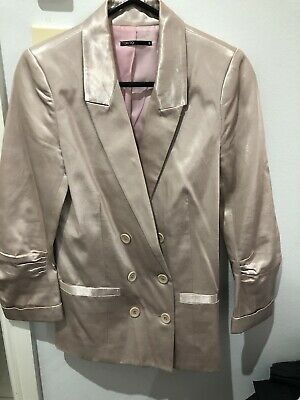 Tokito Suit Blazer Size 8 Sateen Classy Double Breast Only $39