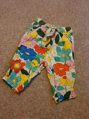 Baby Girl Next Bright Floral Trousers Age 3-6months