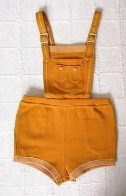 Vintage Childs Hotpants - Age 2-4 Years-Approx - Orange - Nylon - New