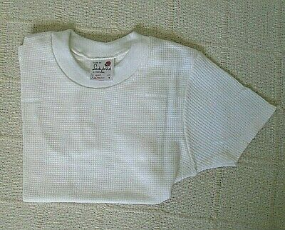 Vintage Ladybird Aircell T-Shirt - Age 6 - White - Elastic Neck - New