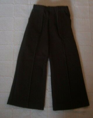 Vintage Stretch Flared Trousers - 2-3 Years - 92 cm- Brown -Elastic Waist - New