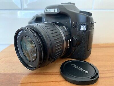 W97 Canon EOS 40D 10.1MP Digital SLR Camera - Black (Kit w/ EF-S 18-55mm Lens)