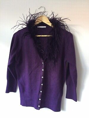Purple Feather Cardigan 14